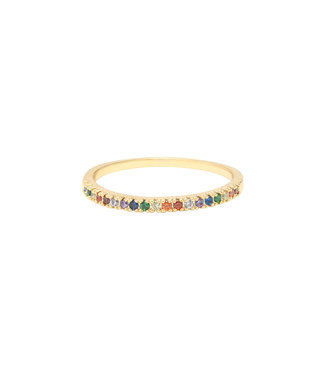 Gold Delicate Rainbow Ring