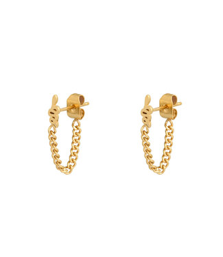 Gold Snake Chain Earrings