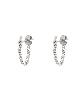 Silver Snake Chain Earrings