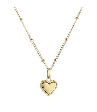 Gold Je T'aime Heart Necklace