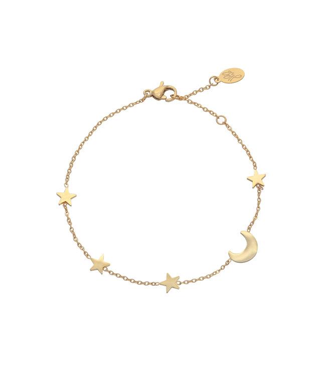 Gold Moon & Stars Bracelet