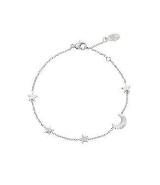 Silver Moon & Stars Bracelet