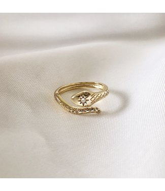 Gold Medusa Snake Ring