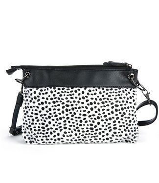Noura Cheetah Bag / White