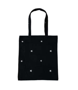 Star Canvas Bag / Black & Silver