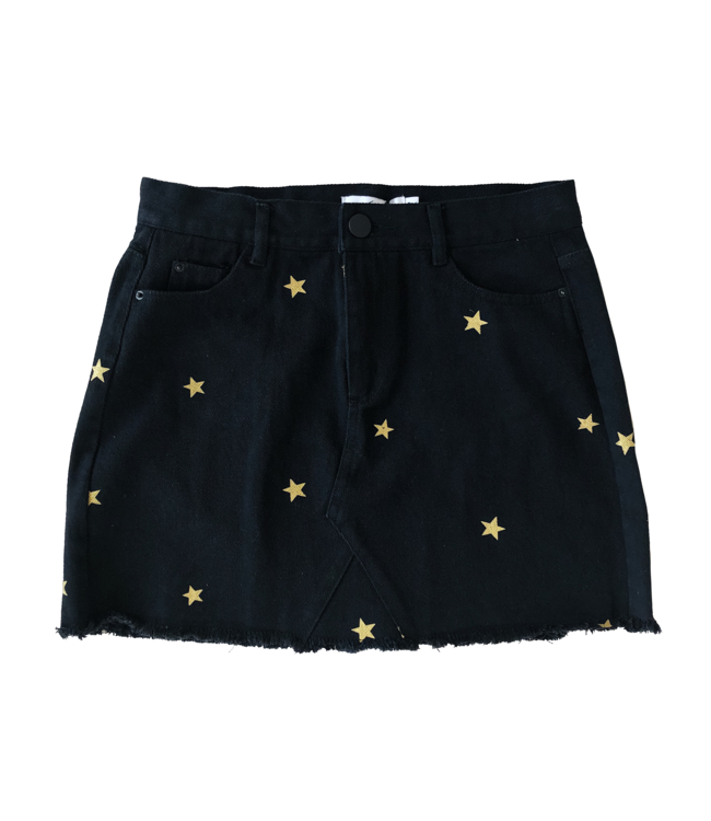 Nova Printed Star Skirt / Black & Gold