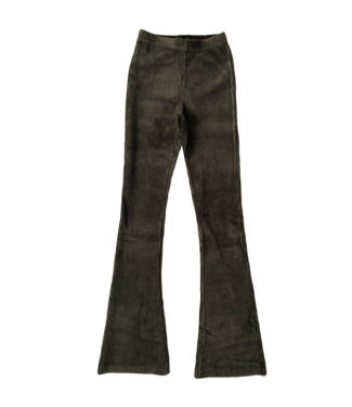 Corduroy Flared Trousers / Dark Green