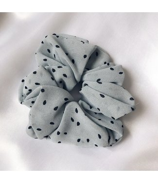 Cara Soft Dots Scrunchie / Blue