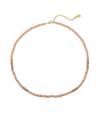 Suri Beads Necklace / Light Pink