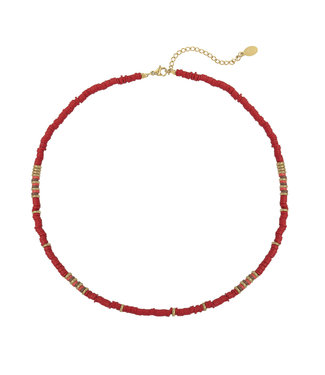 Suri Beads Necklace / Red