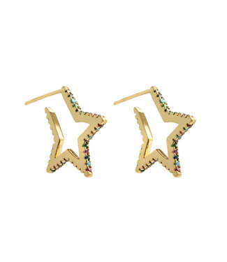 Rainbow Rock Star Earrings