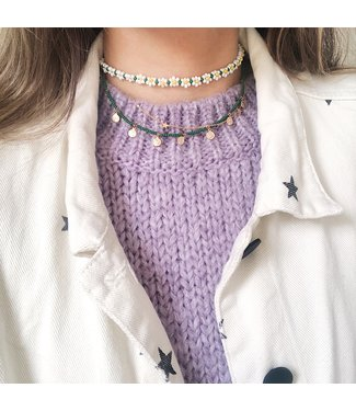 Daisy Flower Beads Necklace