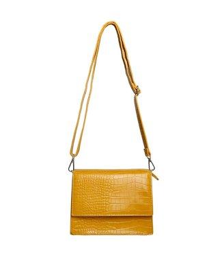 Imani Croco Bag / Mustard