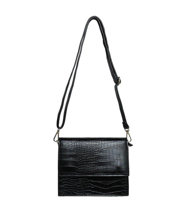 Imani Croco Bag / Zwart
