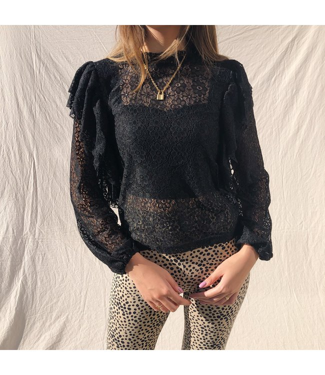 Valerie Lace Top / Black