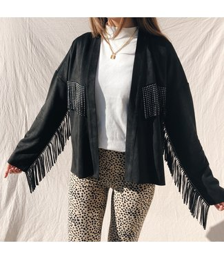 Dakota Fringe Jacket / Black
