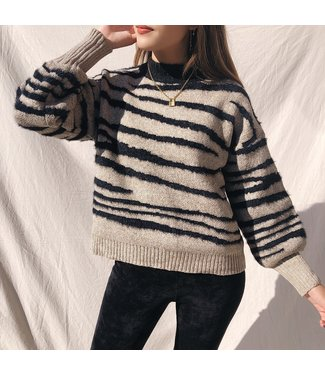 Louie Zebra Knit Sweater