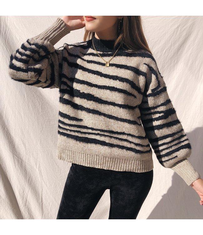 Louie Zebra Knit Sweater