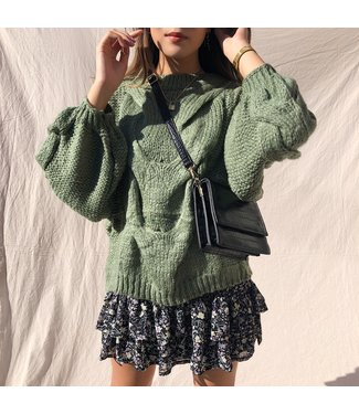 Linnea Oversized Knit Sweater / Green