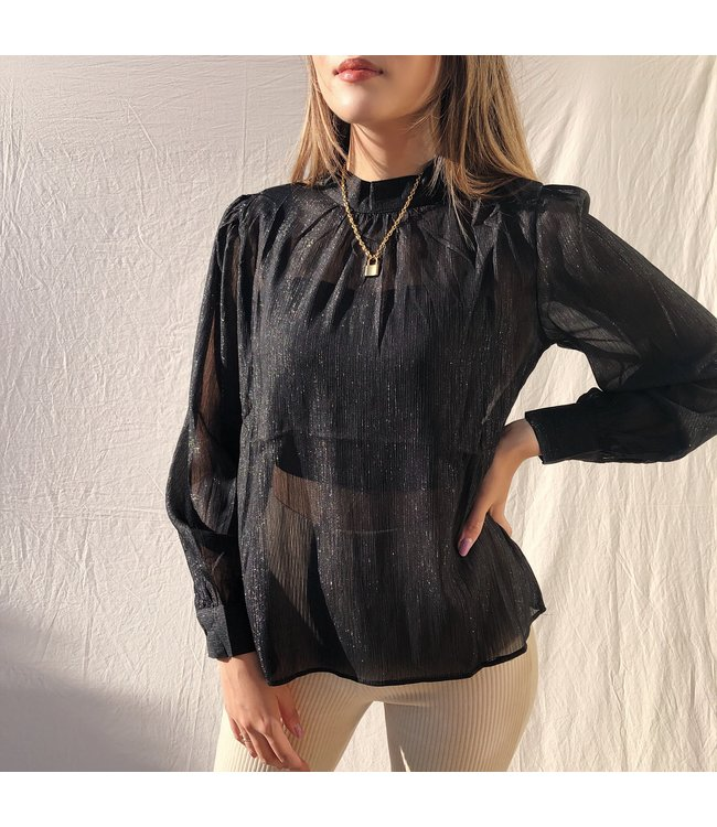 Aurelia Sheer Top / Black