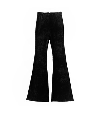 Zoe Ribbed Flared Trousers / Black
