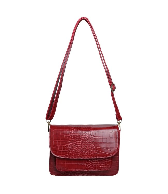 Sage Croco Bag / Wine Red