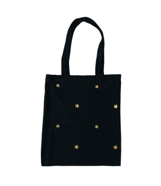 Star Canvas Bag / Black & Gold