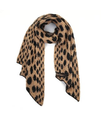 Willow Cheetah Scarf / Brown