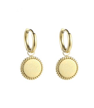 Gold Reason To Smile Earrings