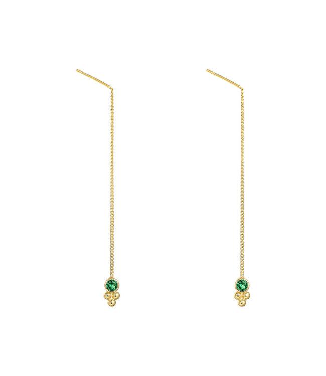 Gold Dots Dangle Earrings
