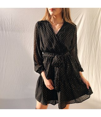 Skylar Dots Dress  / Black