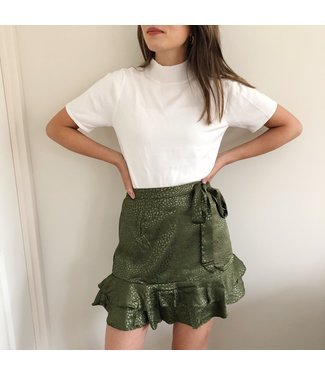 Olive Dots Skirt / Green