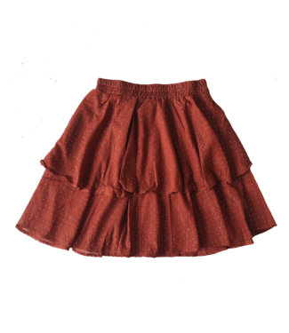 Philis Dots Skirt / Rust