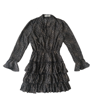 Chaya Cheetah Dress  / Black
