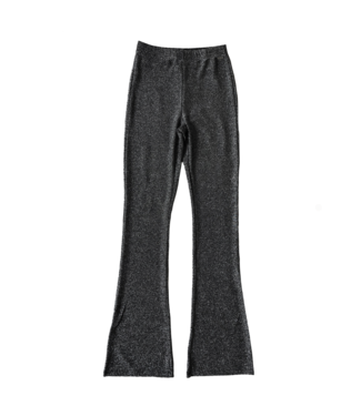 Glitter Angel Flared Trousers / Silver