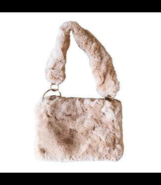 Frankie Furry Bag  / Beige