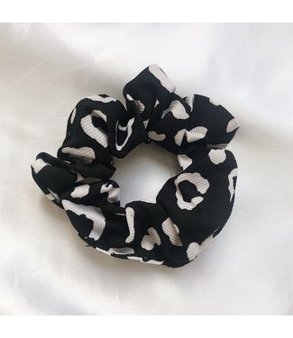 Katie Leopard Scrunchie / Black