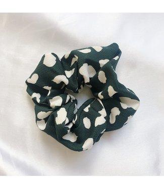 Katie Leopard Scrunchie / Green