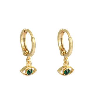 Gold Pretty Eyes Earrings