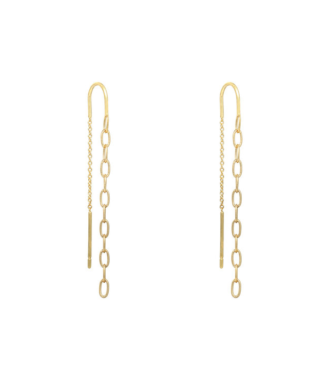 Gold Chain Dangle Earrings