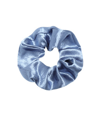 Cara Satin Scrunchie / Blue