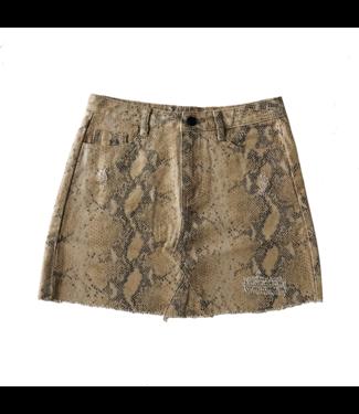 Freya Printed Snake Skirt / Brown