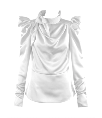 Gina Satin Top / White