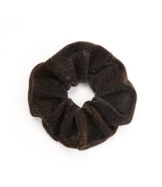 Cara Glitter Scrunchie / Brown