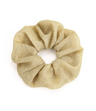Cara Glitter Scrunchie / Light Gold
