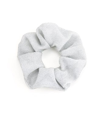 Cara Glitter Scrunchie / Light Silver