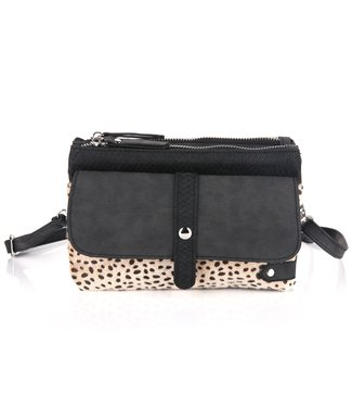 Safia Cheetah Bag / Black