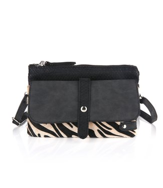 Safia Zebra Bag / Black