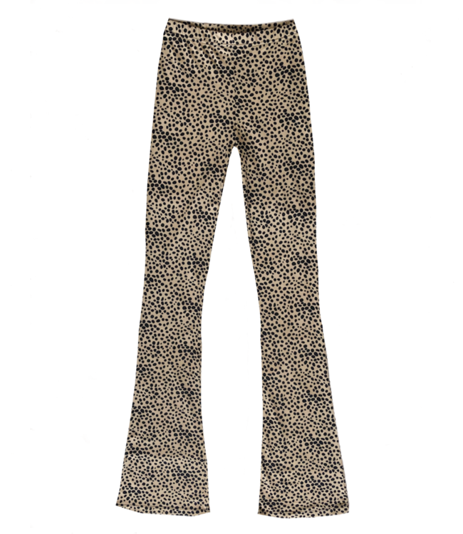 Alexis Cheetah Flared Leggings / Sand