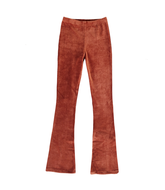 Corduroy Flared Trousers / Rust